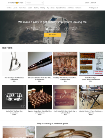 eCommerce website: Custom Made
