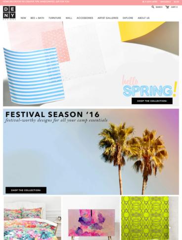 eCommerce website: DENY Designs