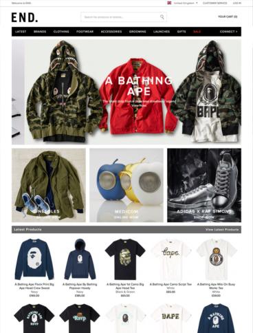 eCommerce website: End Clothing