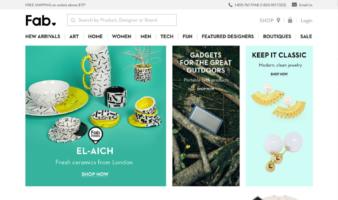 eCommerce website: Fab