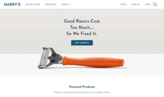 eCommerce website: Harry's