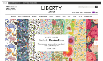 eCommerce website: Liberty