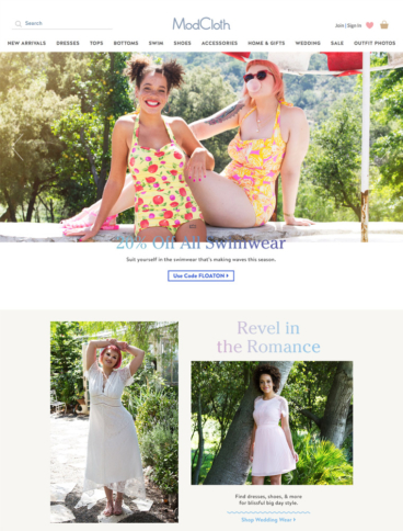 eCommerce website: Modcloth