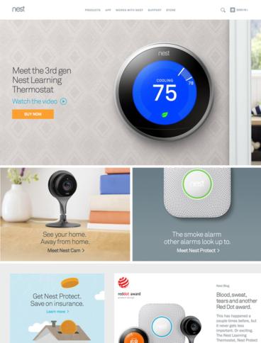 eCommerce website: Nest