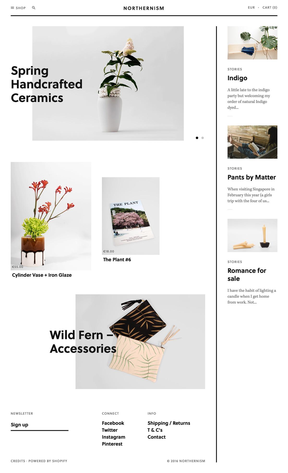 eCommerce website: Northernism