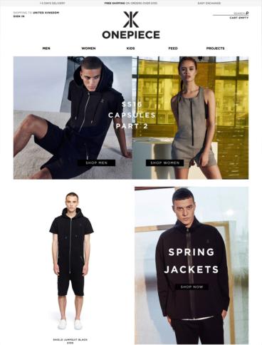 eCommerce website: Onepiece