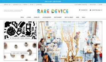 eCommerce website: Rare Device