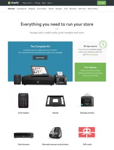 eCommerce website: Shopify