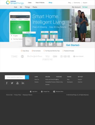 eCommerce website: SmartThings