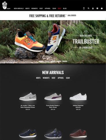 eCommerce website: Sneakerhead