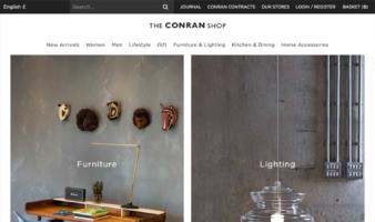 eCommerce website: The Conran Shop