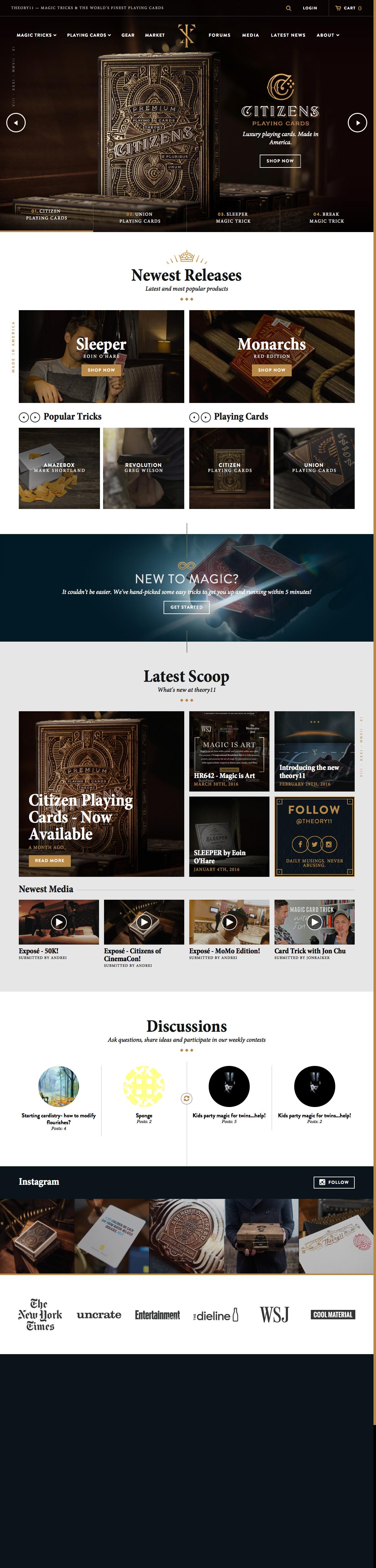 eCommerce website: Theory11