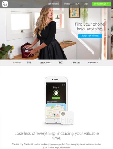 eCommerce website: Tile