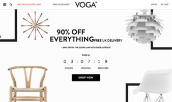 eCommerce website: VOGA