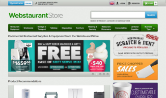 eCommerce website: Webstaurant Store