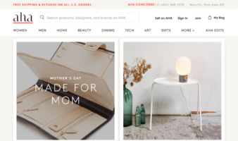 eCommerce website: AHAlife