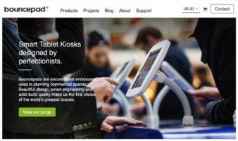 eCommerce website: Bouncepad