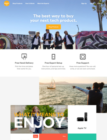 eCommerce website: Enjoy