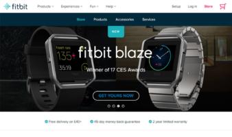 eCommerce website: Fitbit