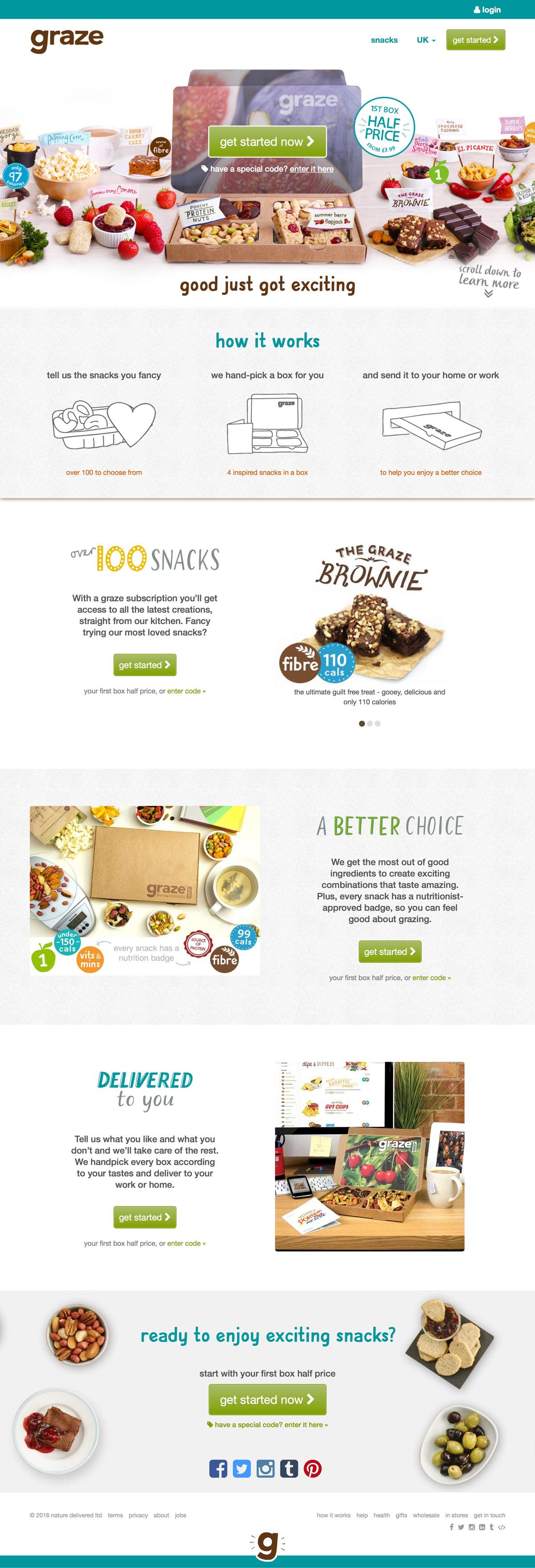 eCommerce website: Graze