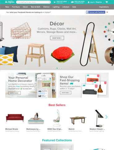 eCommerce website: HipVan