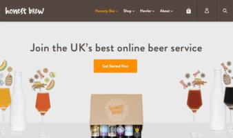 eCommerce website: Honest Brew