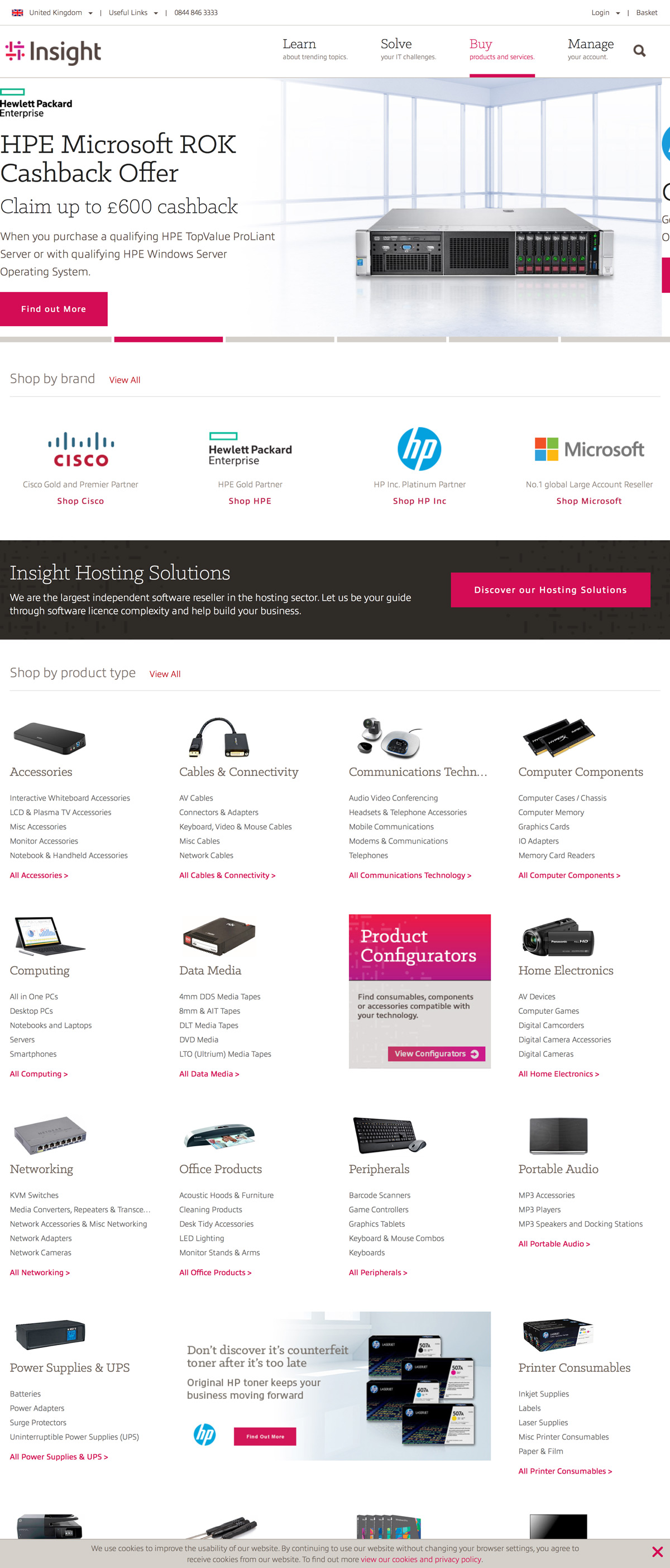 eCommerce website: Insight