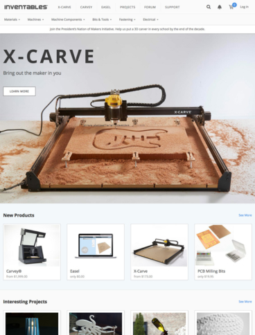 eCommerce website: Inventables