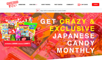 eCommerce website: Japan Crate