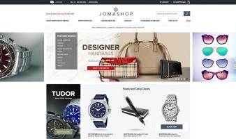 eCommerce website: Jomashop
