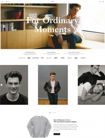 eCommerce website: KOTN