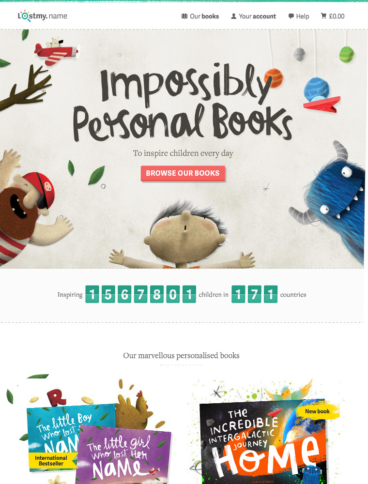 eCommerce website: Lost My Name