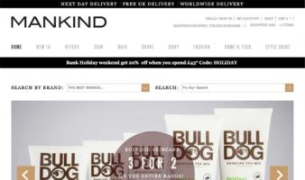 eCommerce website: Mankind
