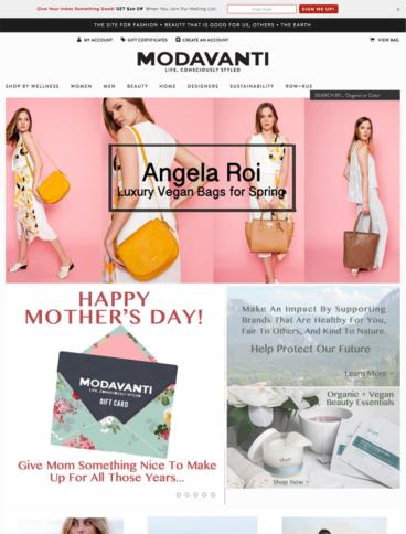 eCommerce website: Modavanti