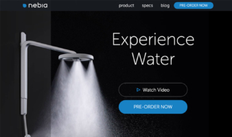 eCommerce website: Nebia