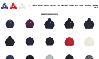 eCommerce website: Palace Skateboards