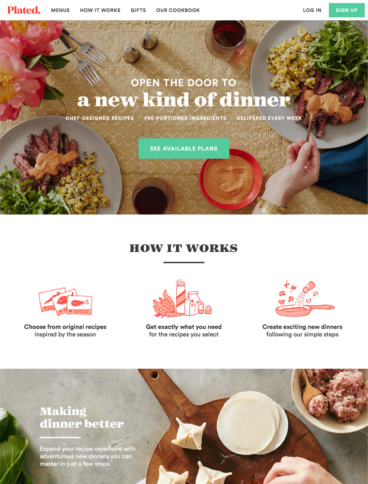 eCommerce website: Plated