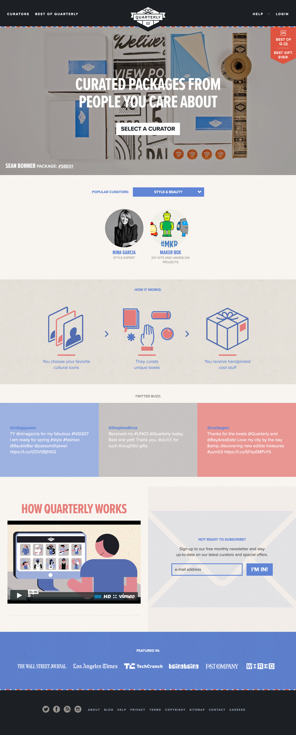 eCommerce website: Quarterly