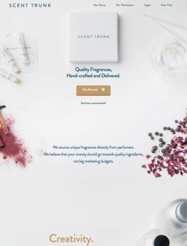 eCommerce website: Scent Trunk