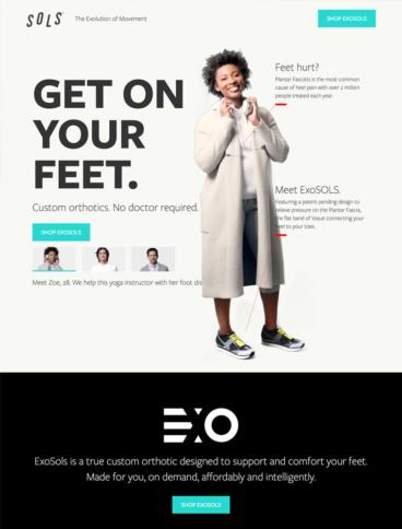 eCommerce website: Sols