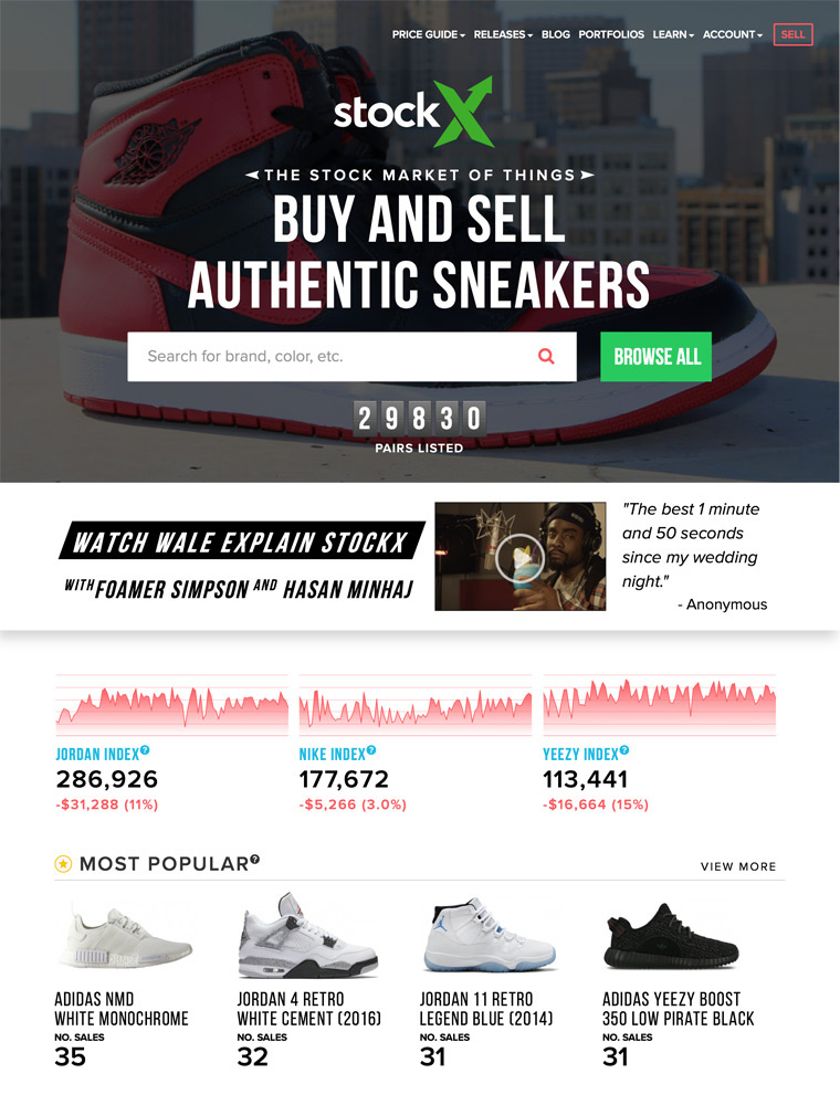 StockX   eCommerce Website Design