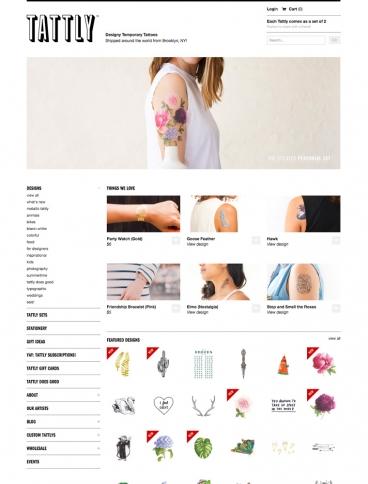 eCommerce website: Tattly