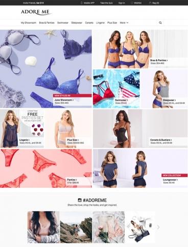 eCommerce website: Adore Me