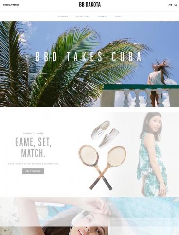 eCommerce website: BB Dakota