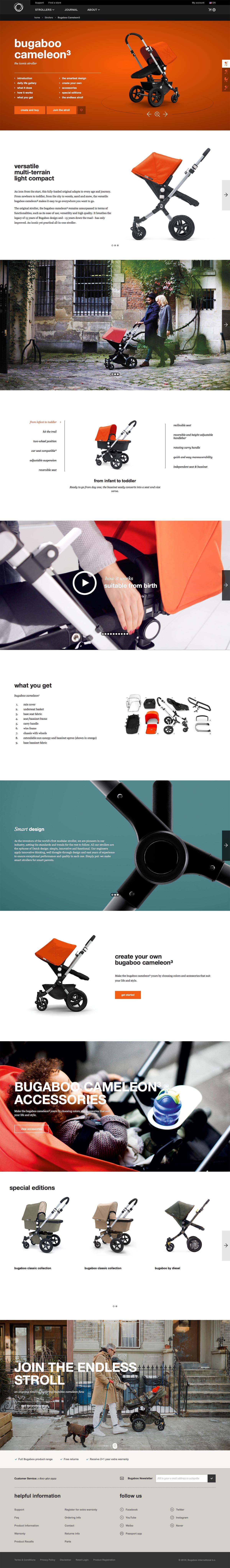 eCommerce website: Bugaboo