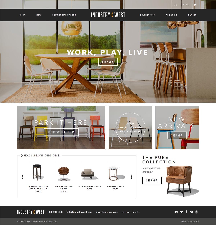 eCommerce website: Industry West