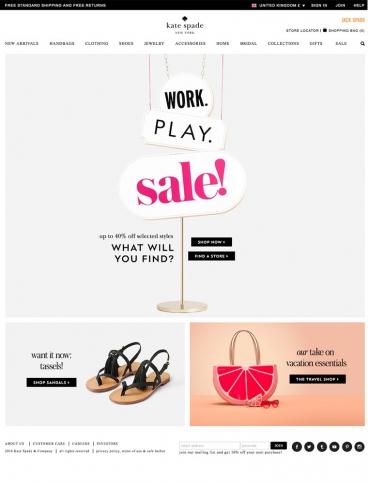 eCommerce website: Kate Spade