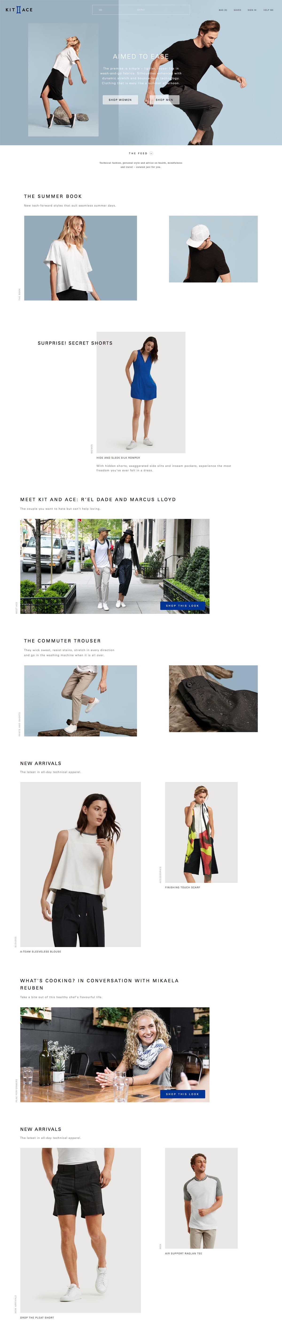 eCommerce website: Kit and Ace