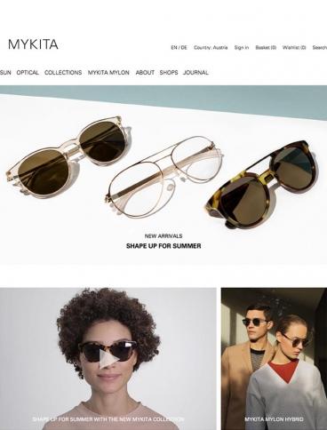 eCommerce website: MYKITA