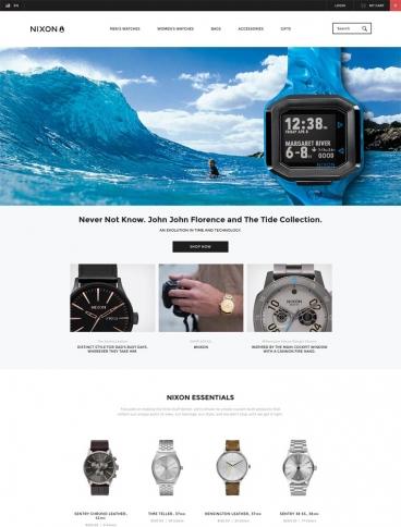 eCommerce website: Nixon